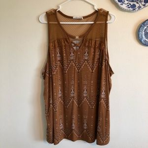 Maurices Brown Printed Tank